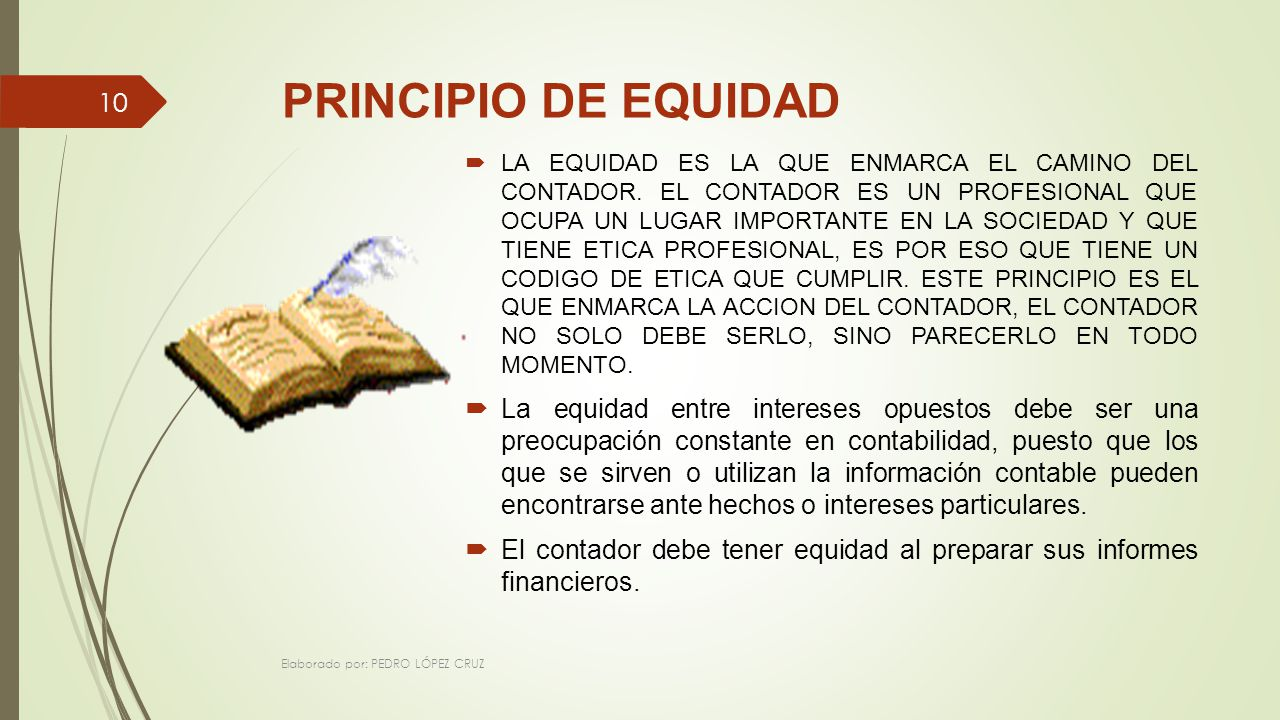 PRINCIPIO DE EQUIDAD