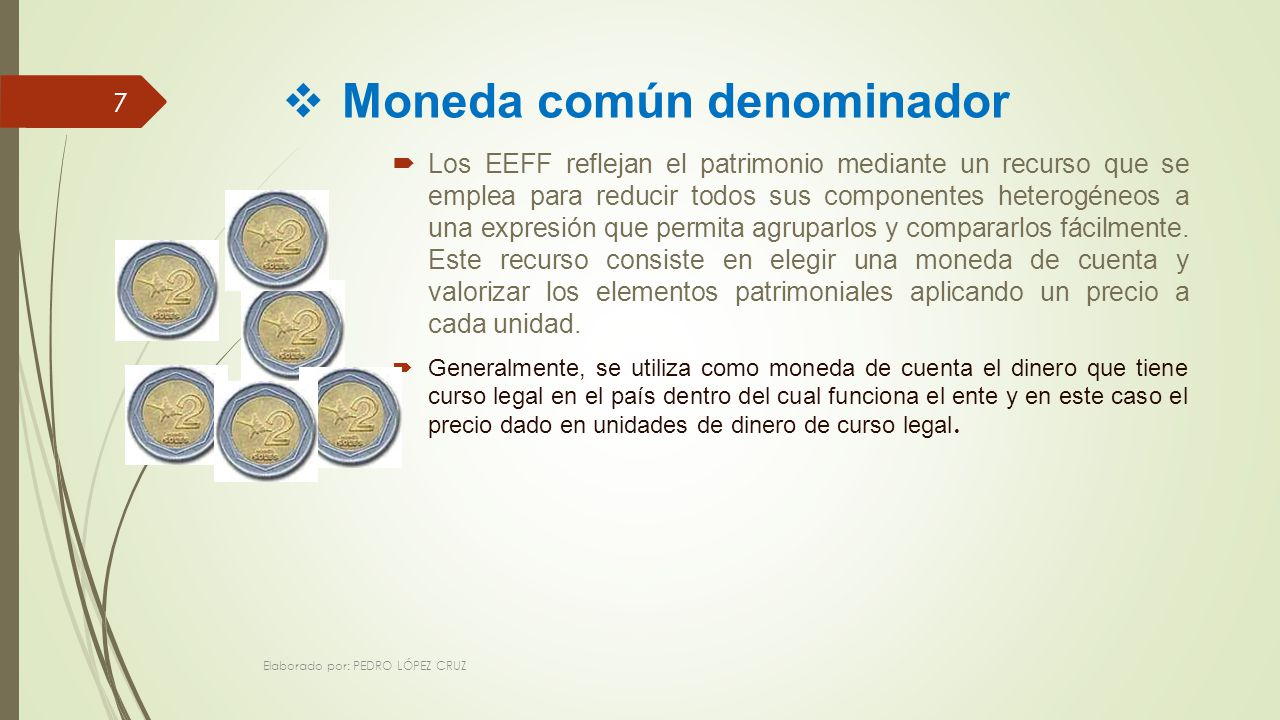 Moneda común denominador