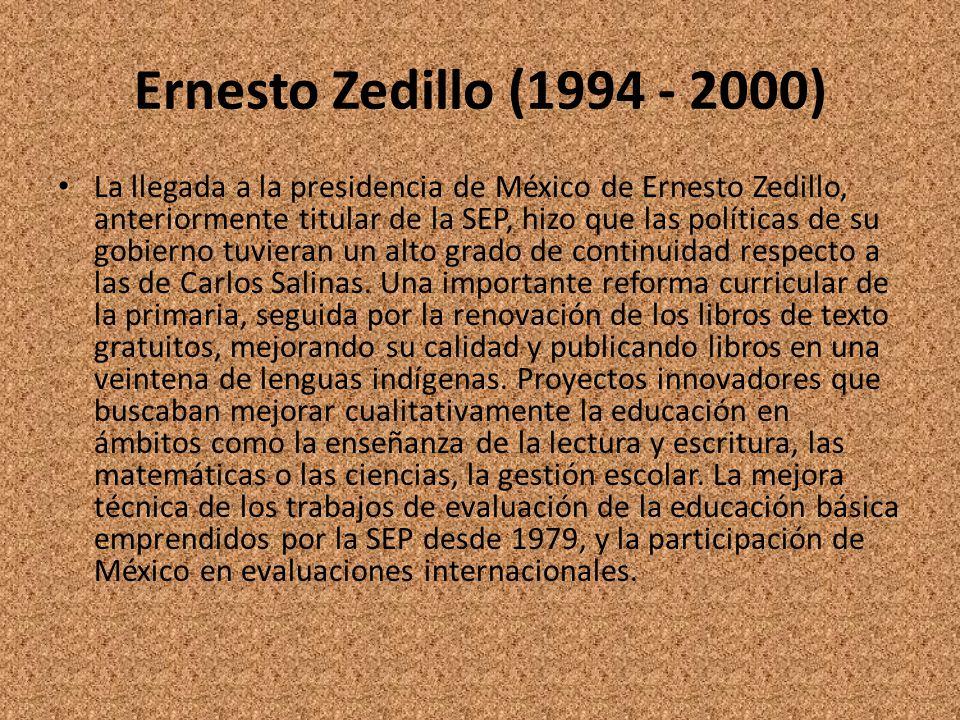 Ernesto Zedillo (1994 - 2000)