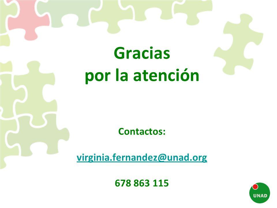Gracias por la atención Contactos: virginia. fernandez@unad