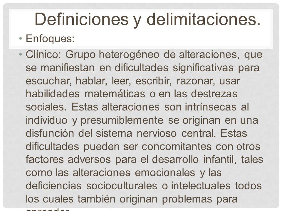 Definiciones y delimitaciones.