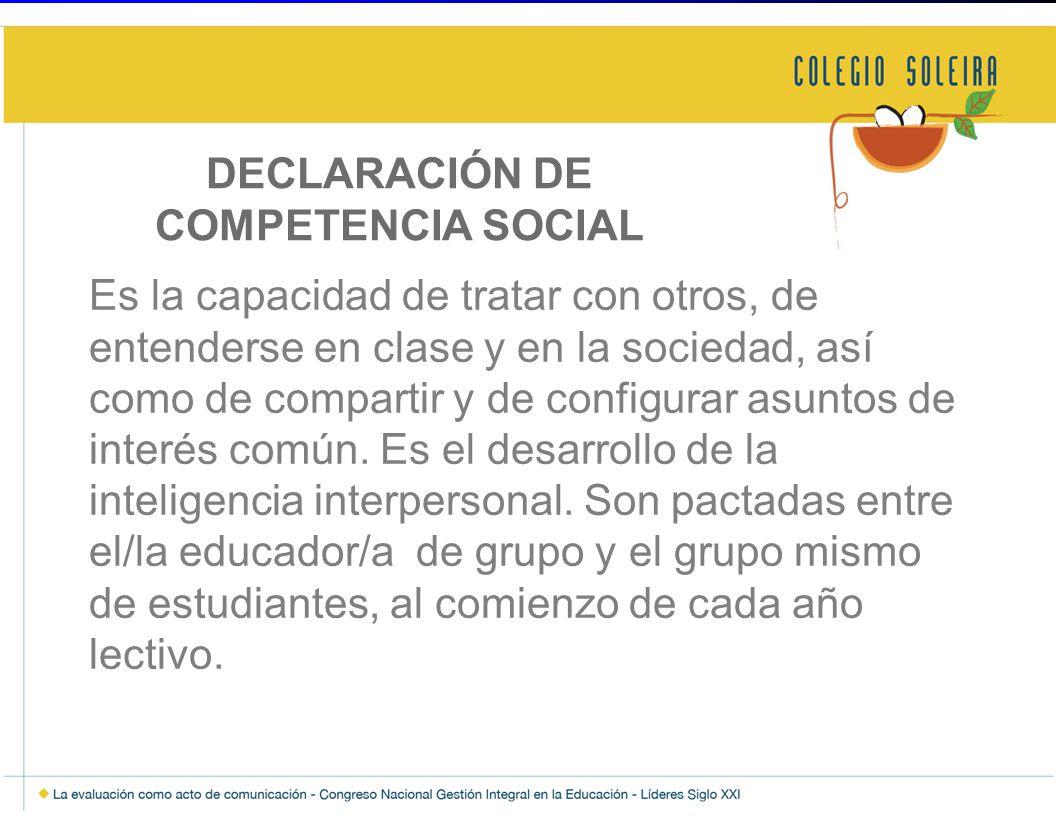 DECLARACIÓN DE COMPETENCIA SOCIAL