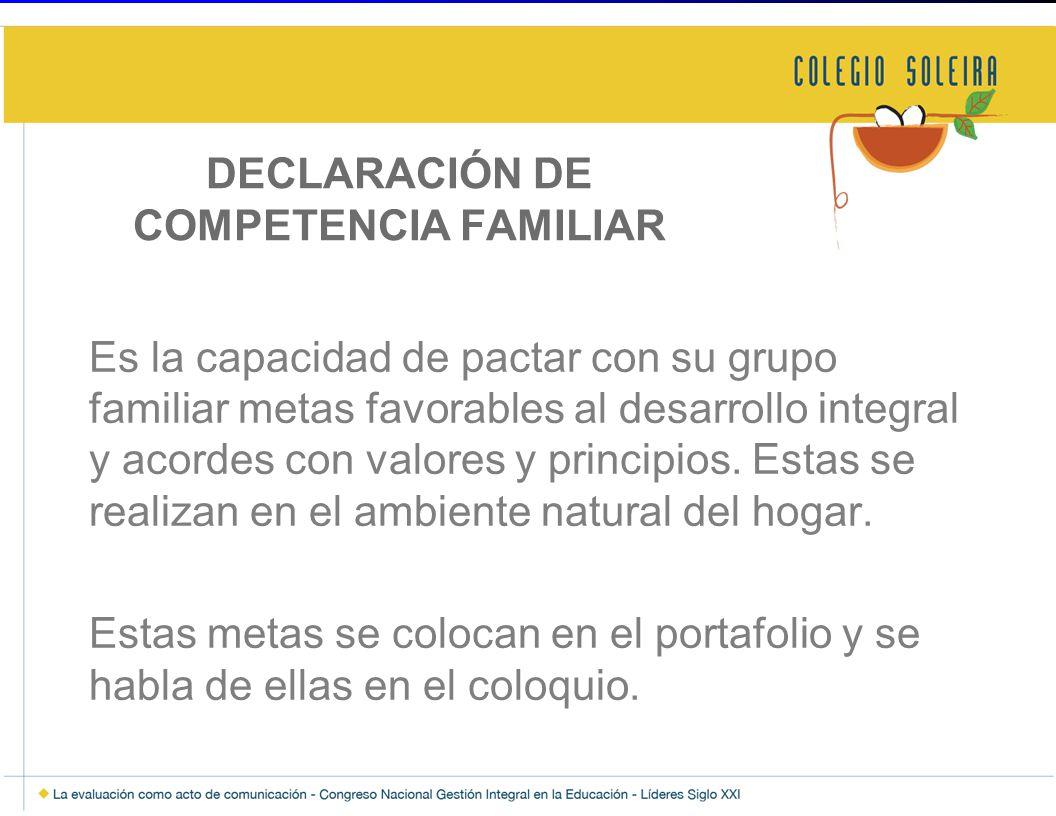 DECLARACIÓN DE COMPETENCIA FAMILIAR