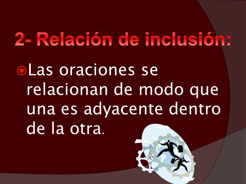 2- Relación de inclusión: