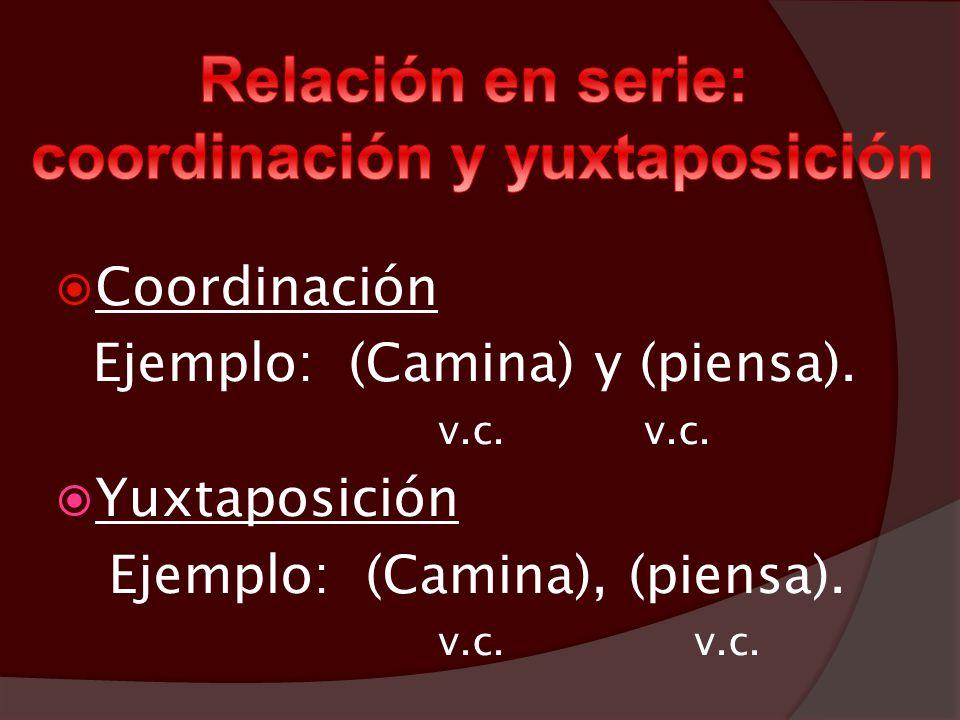 Relación en serie: coordinación y yuxtaposición