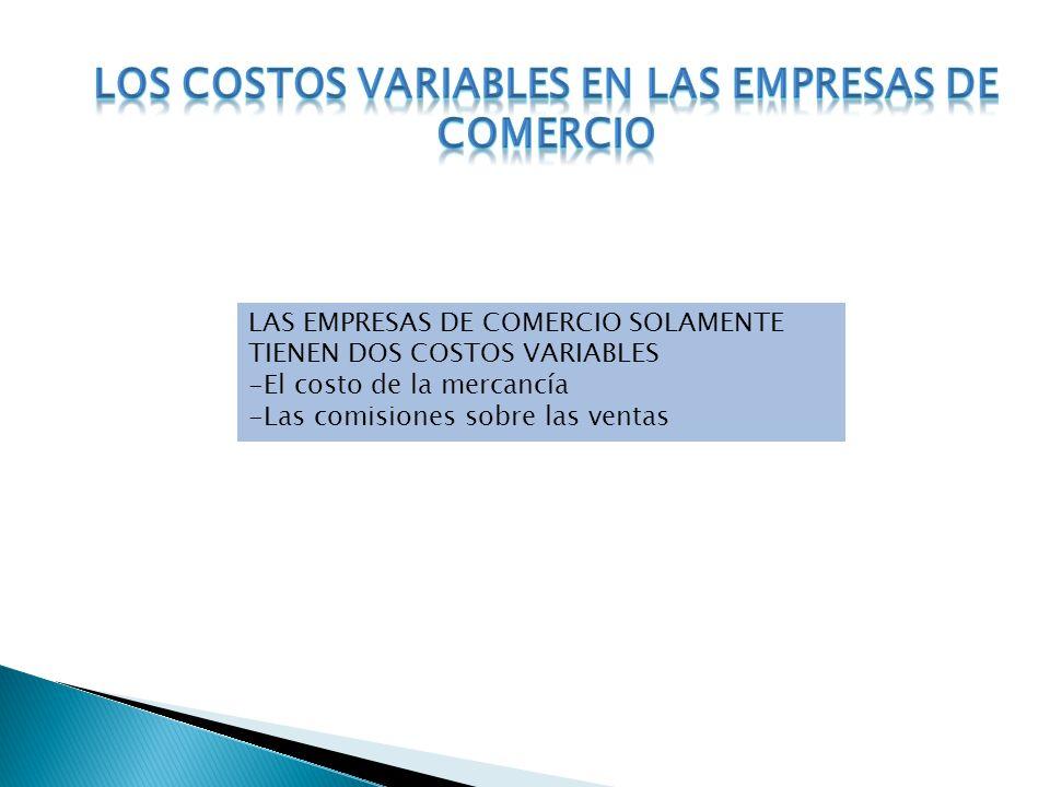 LOS COSTOS VARIABLES EN LAS EMPRESAS DE COMERCIO