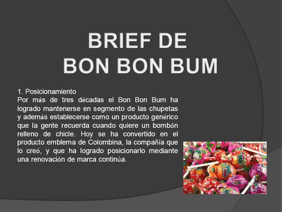 BRIEF DE BON BON BUM 1. Posicionamiento