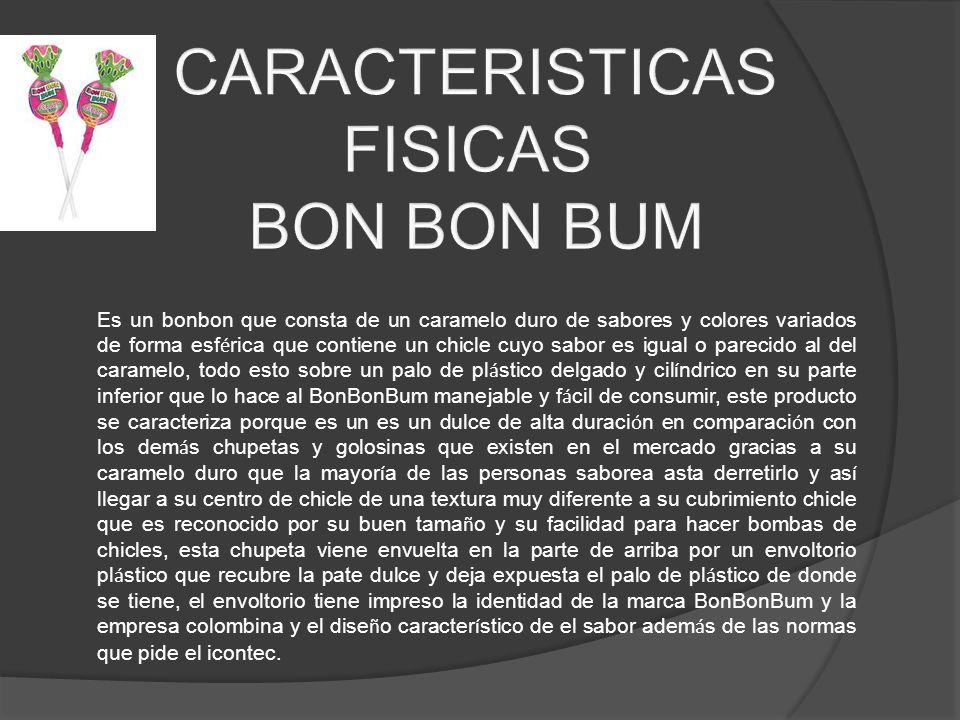 CARACTERISTICAS FISICAS BON BON BUM