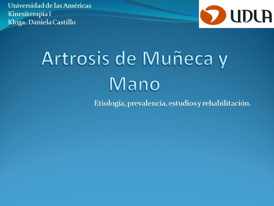 Artrosis de Muñeca y Mano
