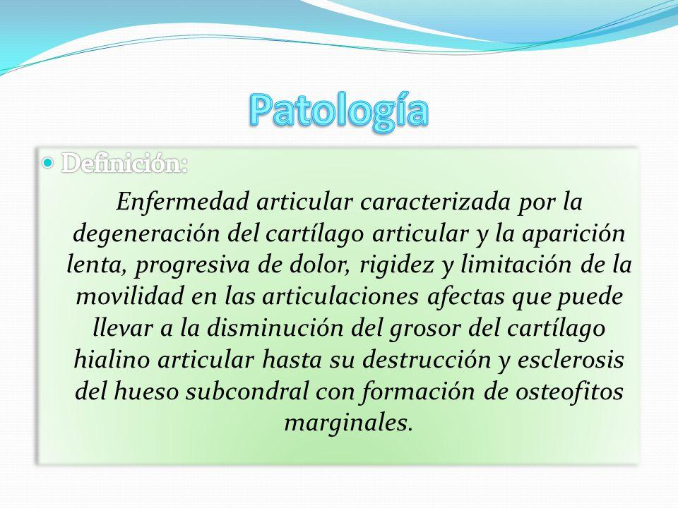 Patología Definición: