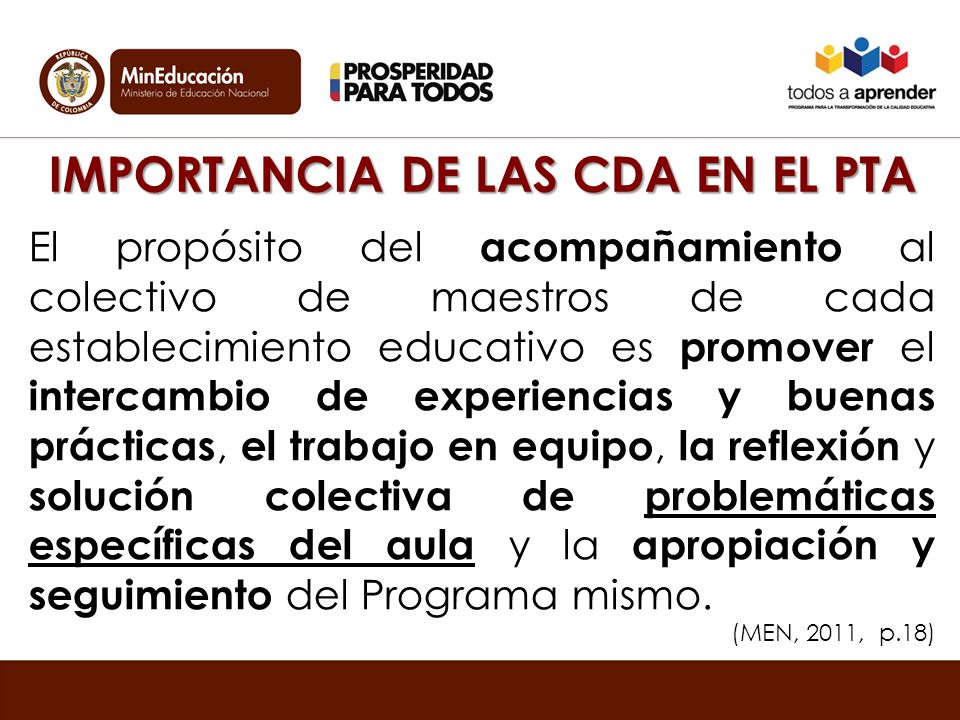 IMPORTANCIA DE LAS CDA EN EL PTA