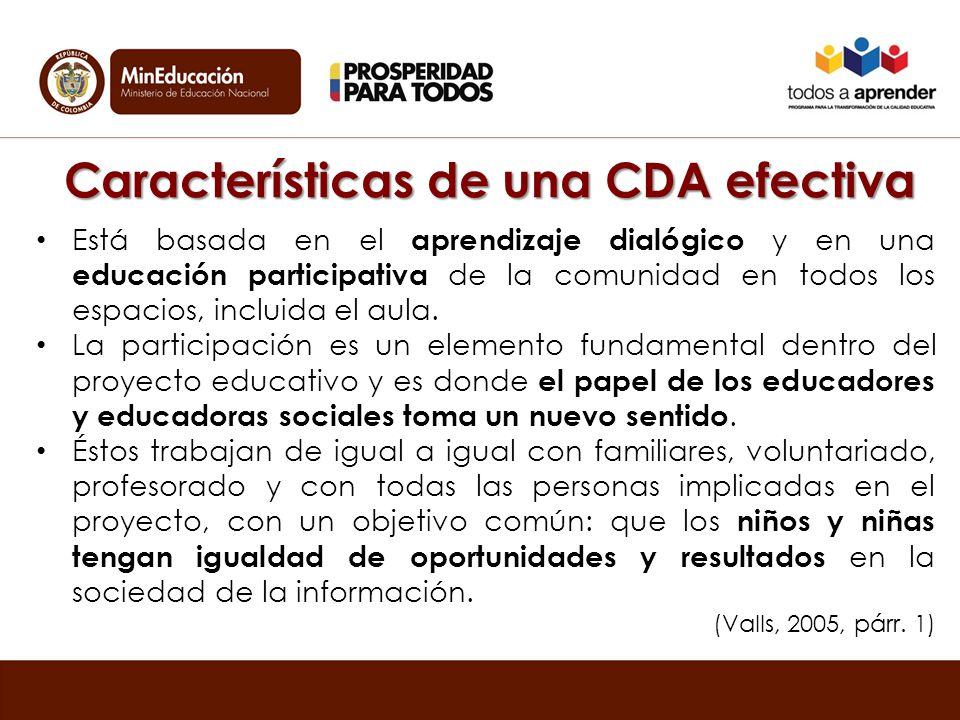 Características de una CDA efectiva