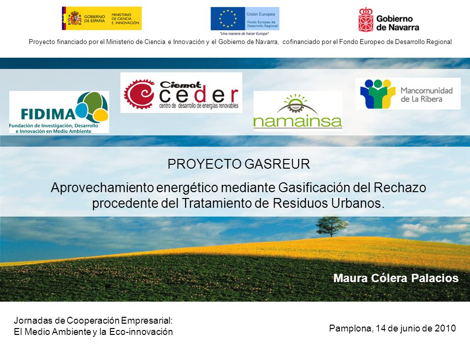 Proyecto financiado por el ministerio de ciencia e for Ministerio de innovacion