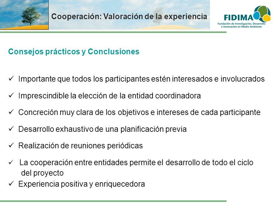 Cooperación: Valoración de la experiencia