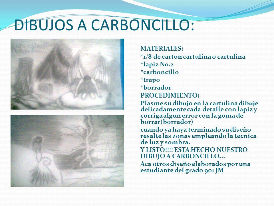 DIBUJOS A CARBONCILLO: