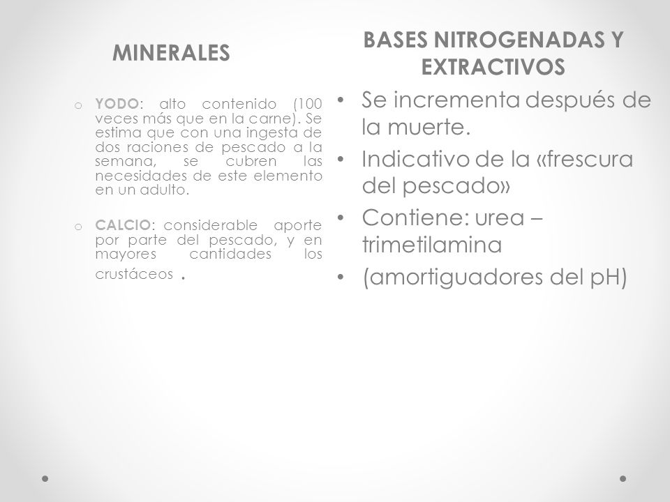 BASES NITROGENADAS Y EXTRACTIVOS