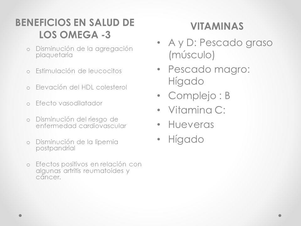 BENEFICIOS EN SALUD DE LOS OMEGA -3
