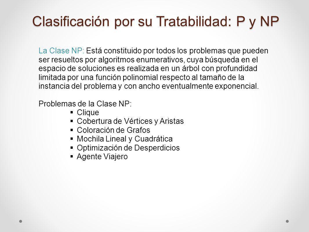 Clasificación por su Tratabilidad: P y NP