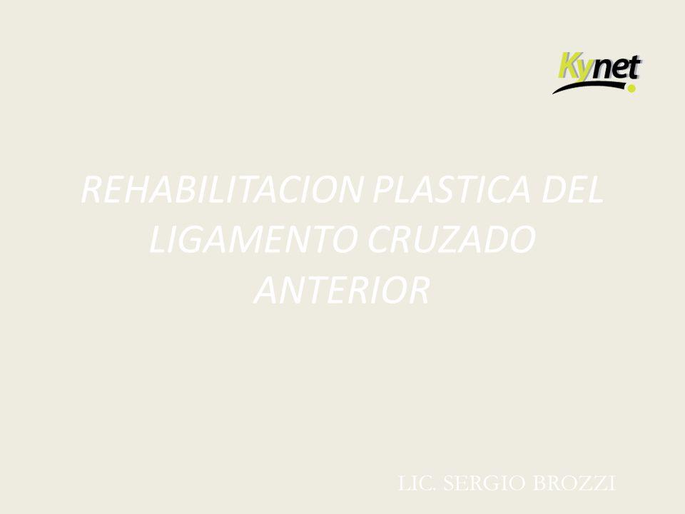 REHABILITACION PLASTICA DEL LIGAMENTO CRUZADO ANTERIOR