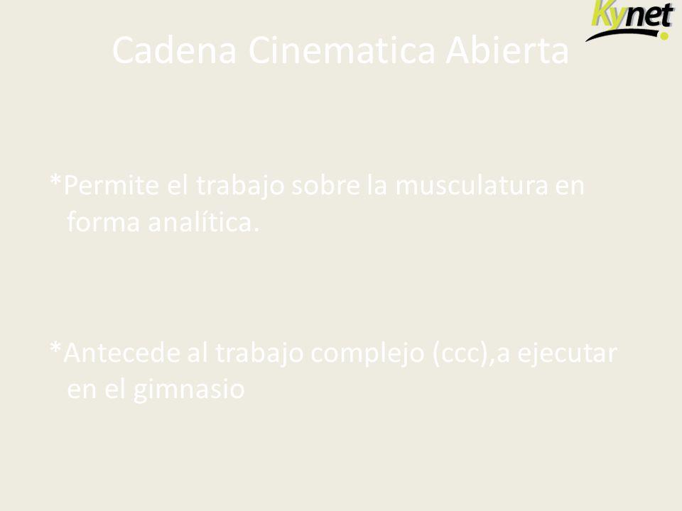 Cadena Cinematica Abierta