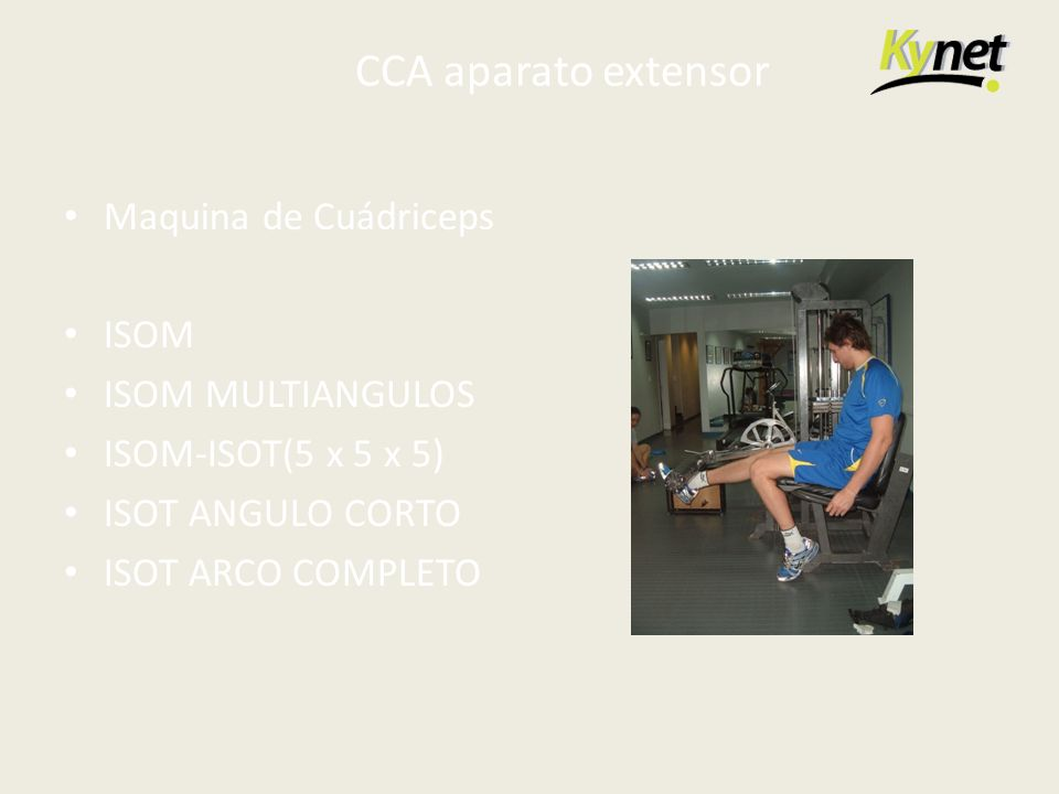 CCA aparato extensor Maquina de Cuádriceps ISOM ISOM MULTIANGULOS