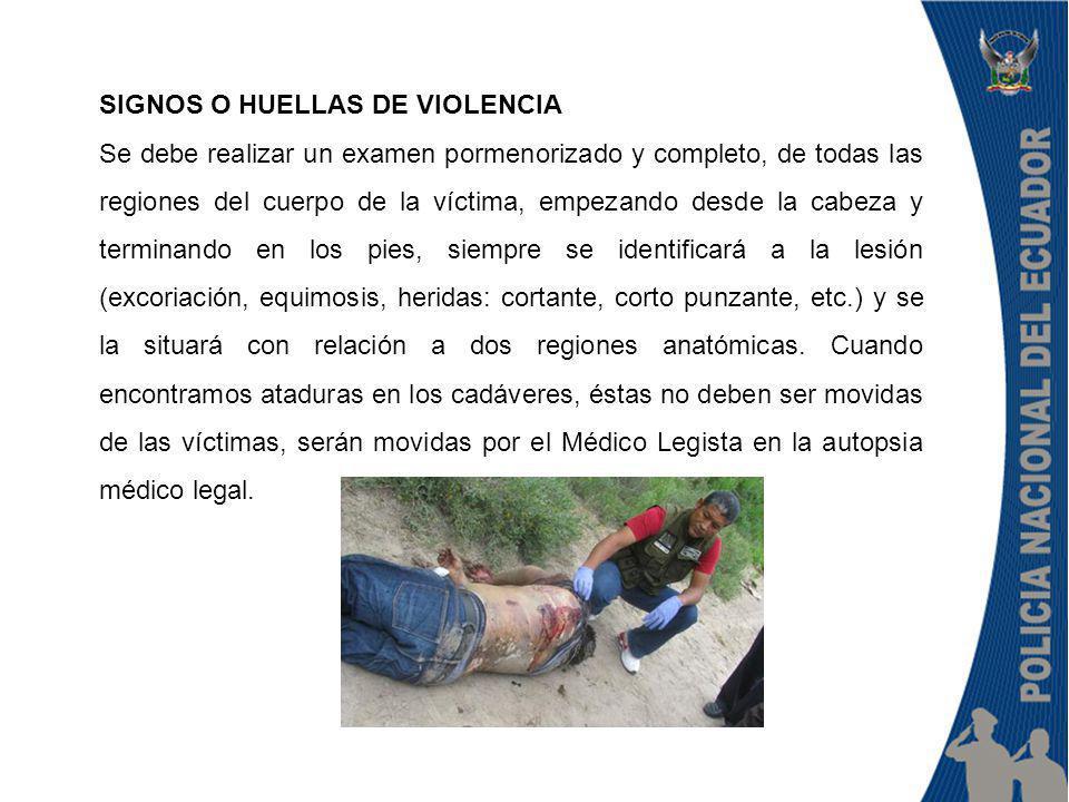 SIGNOS O HUELLAS DE VIOLENCIA