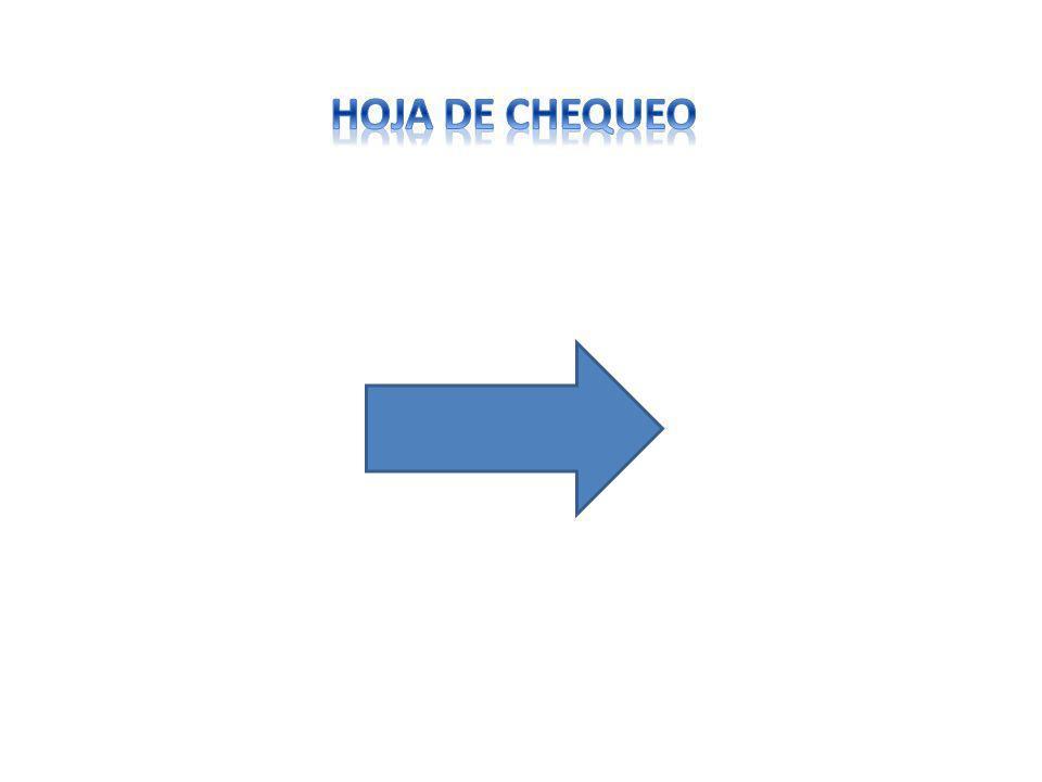 HOJA DE CHEQUEO