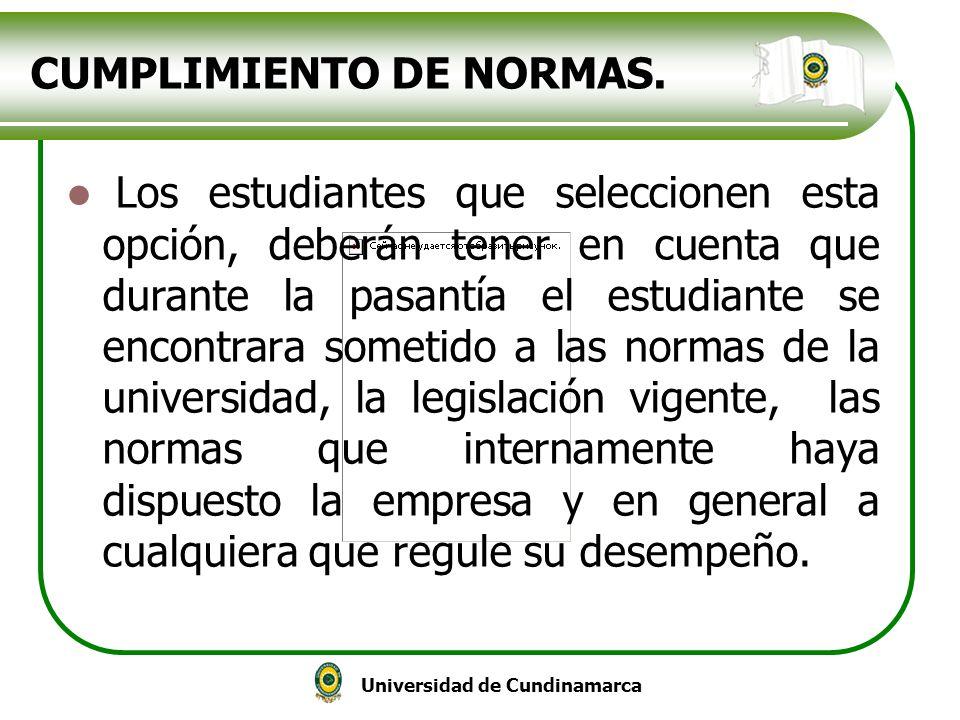 CUMPLIMIENTO DE NORMAS.