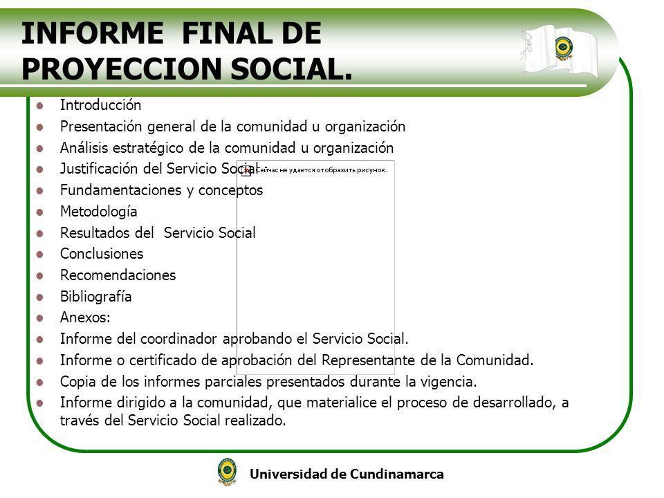 INFORME FINAL DE PROYECCION SOCIAL.