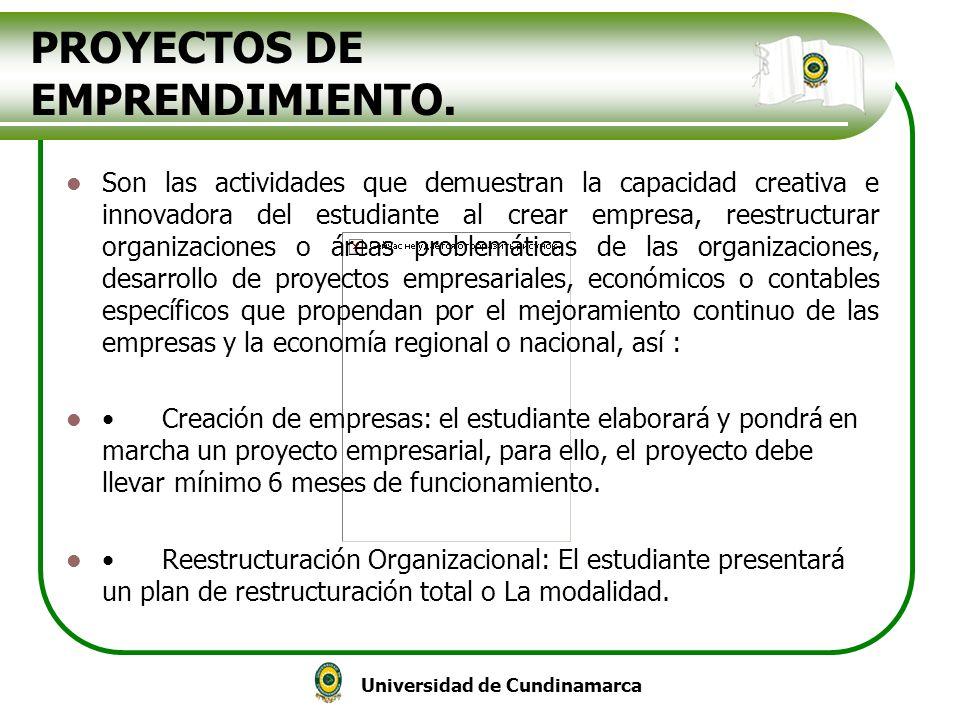 PROYECTOS DE EMPRENDIMIENTO.