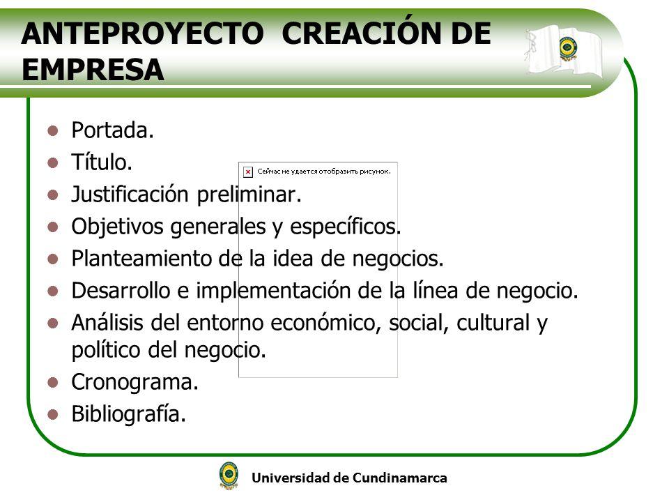 ANTEPROYECTO CREACIÓN DE EMPRESA