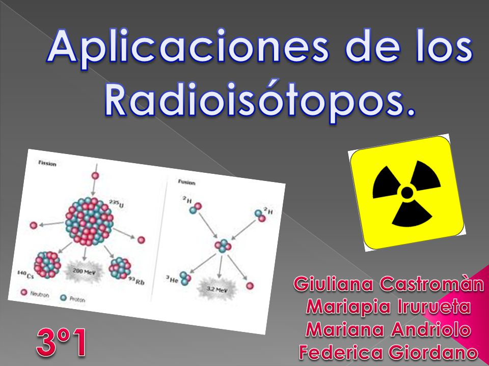 Aplicaciones de los Radioisótopos.