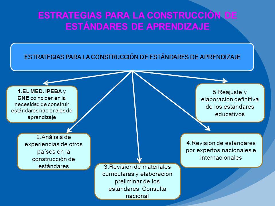 ESTRATEGIAS PARA LA CONSTRUCCIÓN DE ESTÁNDARES DE APRENDIZAJE