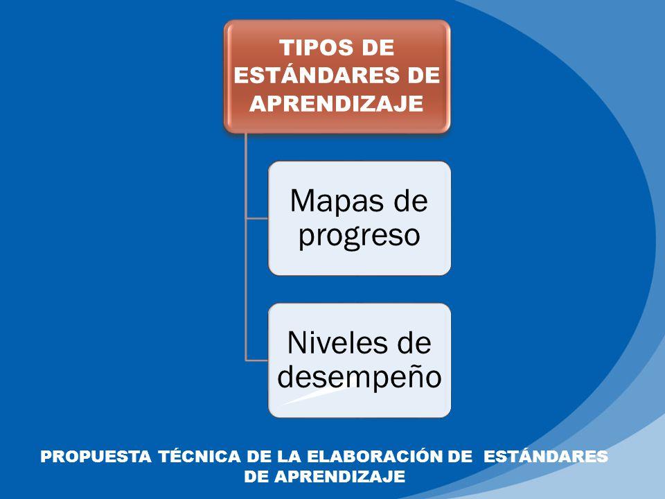 PROPUESTA TÉCNICA DE LA ELABORACIÓN DE ESTÁNDARES DE APRENDIZAJE