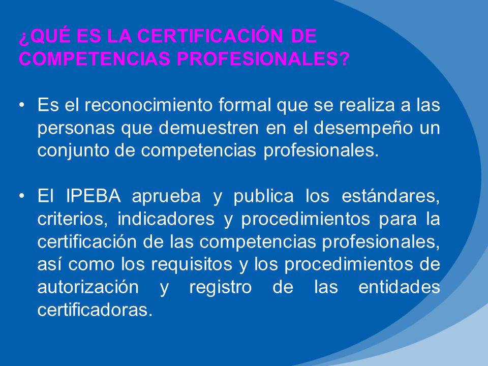 ¿Qué es la Certificación de competencias profesionales