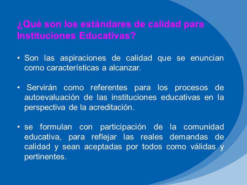 ¿Qué son los estándares de calidad para Instituciones Educativas