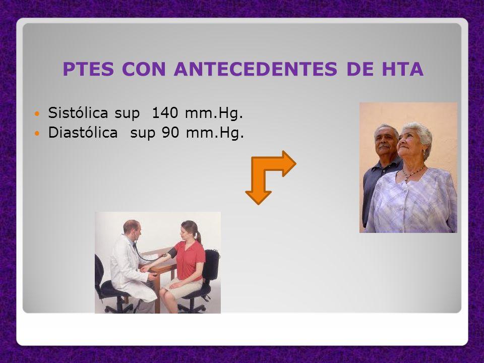 PTES CON ANTECEDENTES DE HTA