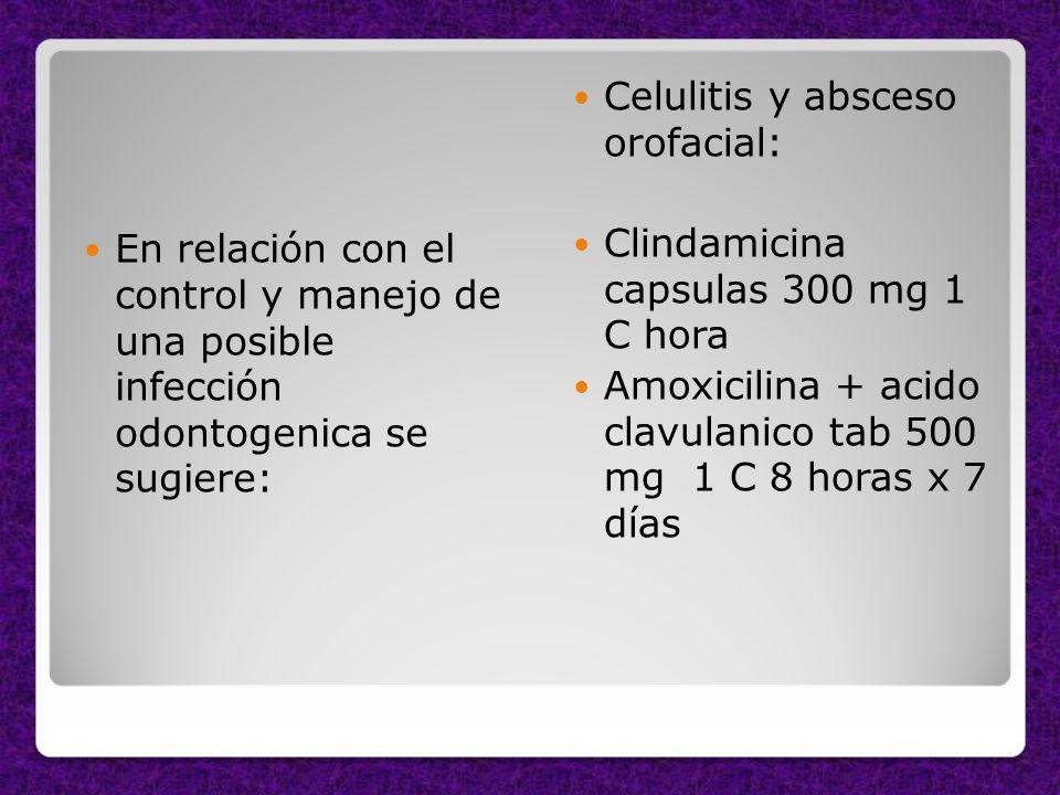 Celulitis y absceso orofacial: