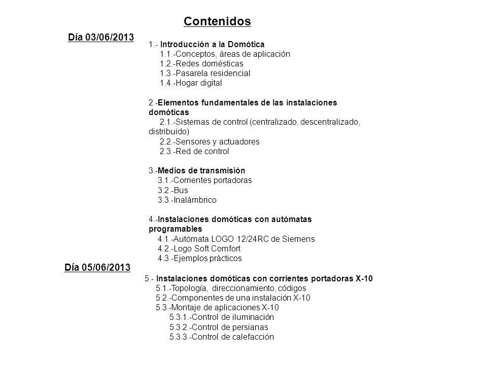 Contenidos Día 03/06/2013 Día 05/06/2013