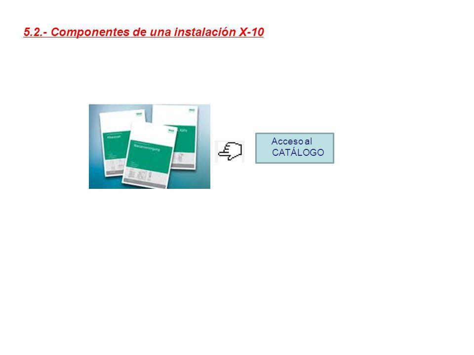 5.2.- Componentes de una instalación X-10