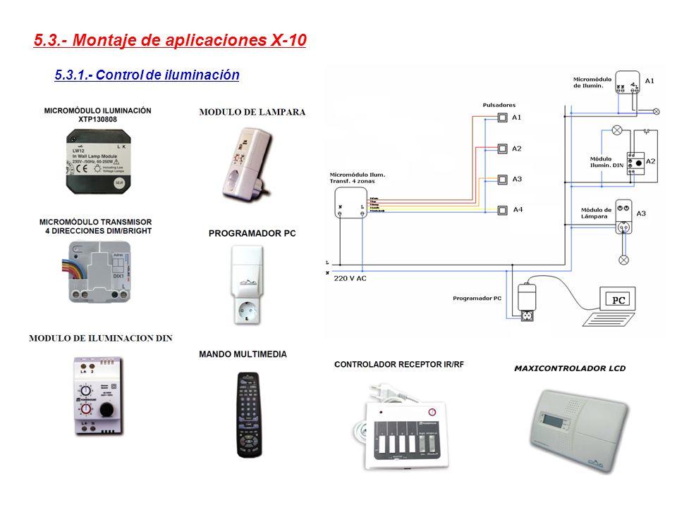5.3.- Montaje de aplicaciones X-10