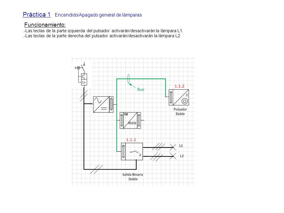 Práctica 1 Encendido/Apagado general de lámparas