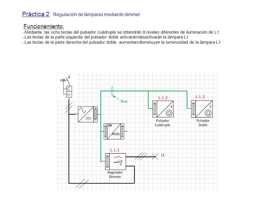Práctica 2 Regulación de lámparas mediante dimmer