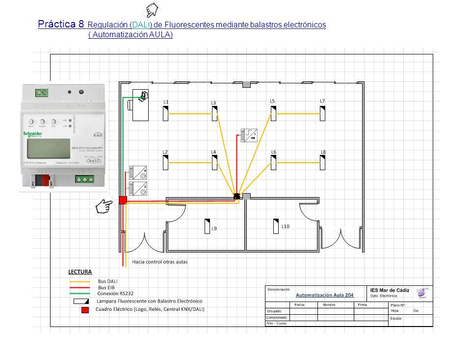 Práctica 8 Regulación (DALI) de Fluorescentes mediante balastros electrónicos