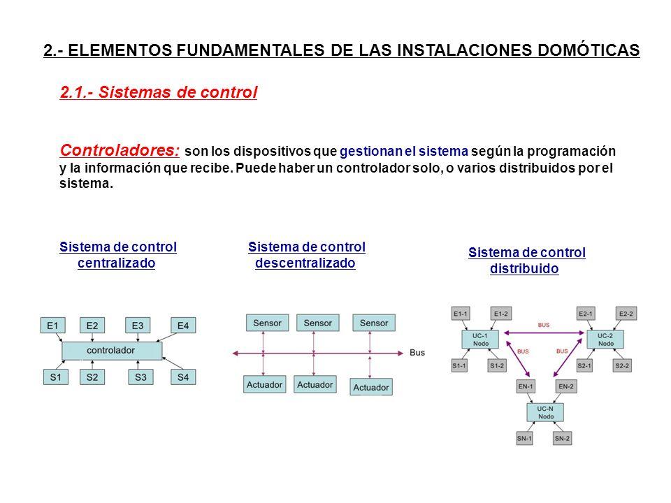2.- ELEMENTOS FUNDAMENTALES DE LAS INSTALACIONES DOMÓTICAS
