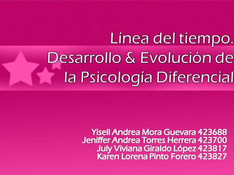 Línea del tiempo. Desarrollo & Evolución de la Psicología Diferencial