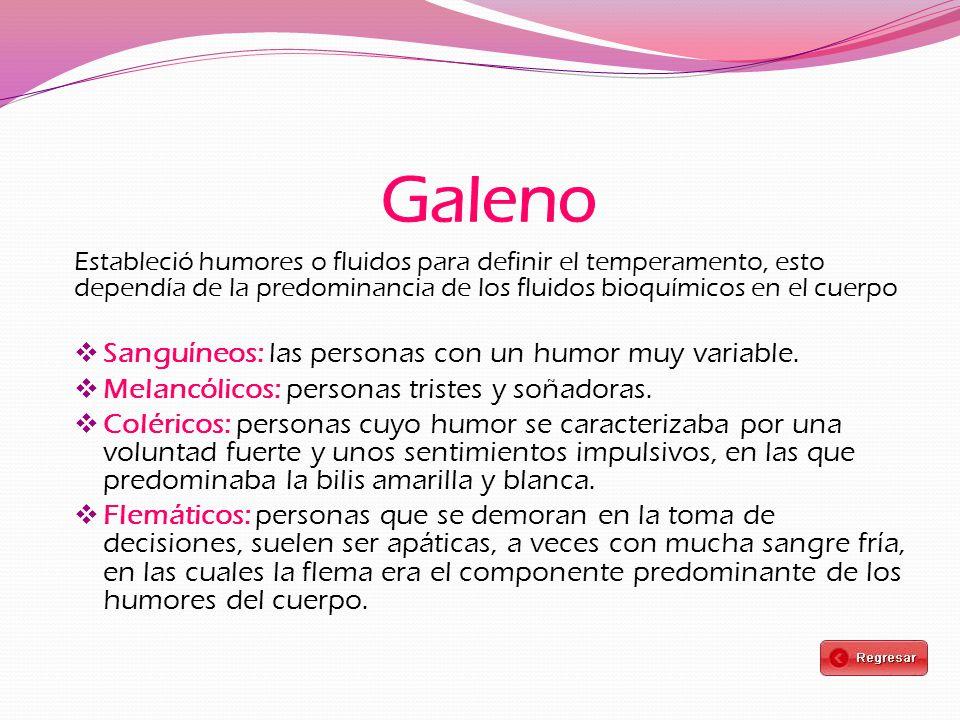 Galeno Sanguíneos: las personas con un humor muy variable.