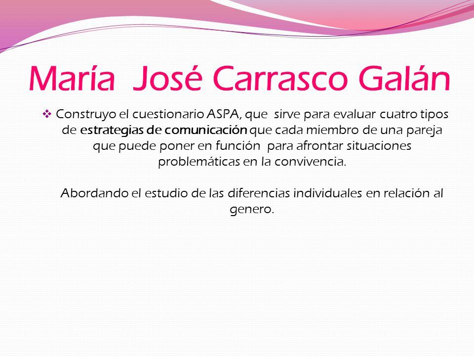 María José Carrasco Galán