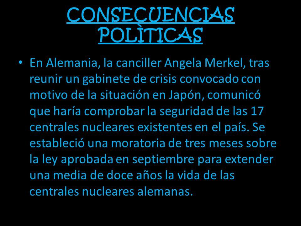 CONSECUENCIAS POLÌTICAS