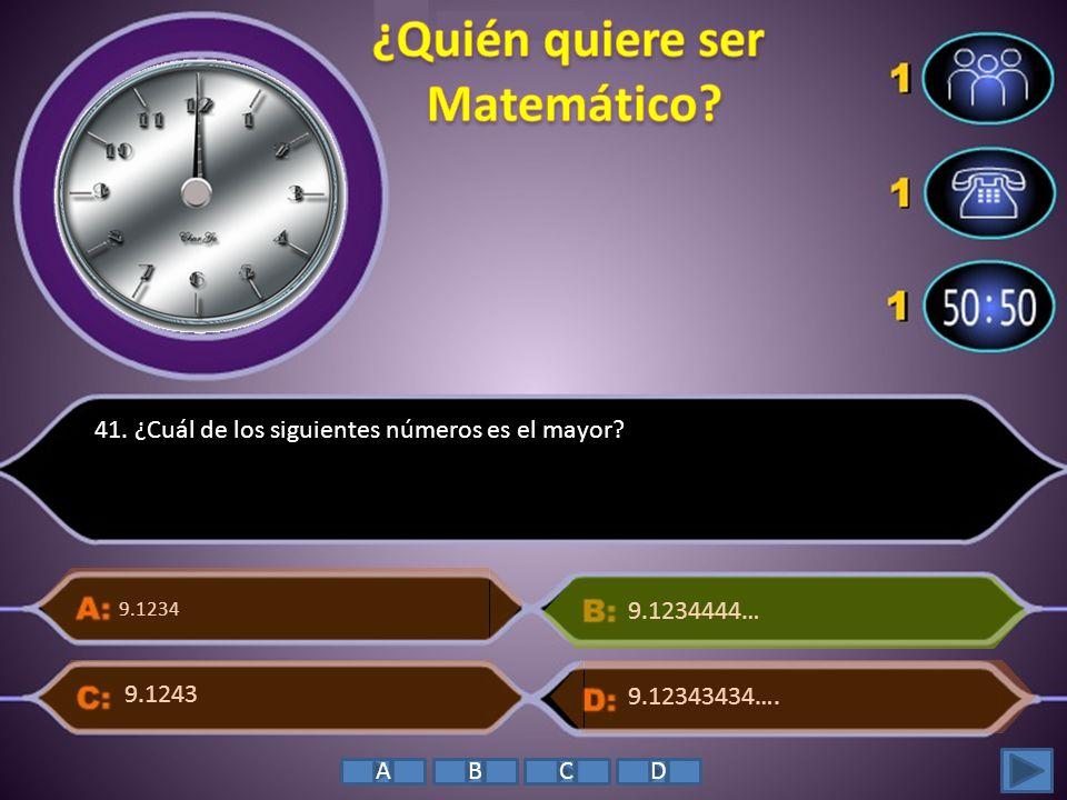 ¿Quién quiere ser Matemático